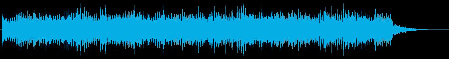 不安定なリズムと不穏な雰囲気のBGMの再生済みの波形