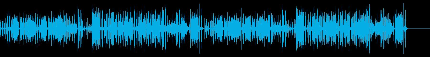 日常のBGMの再生済みの波形