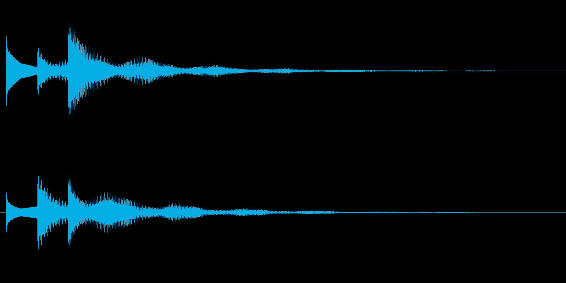 ぴん↑ぽん↓ぱーん↑の再生済みの波形