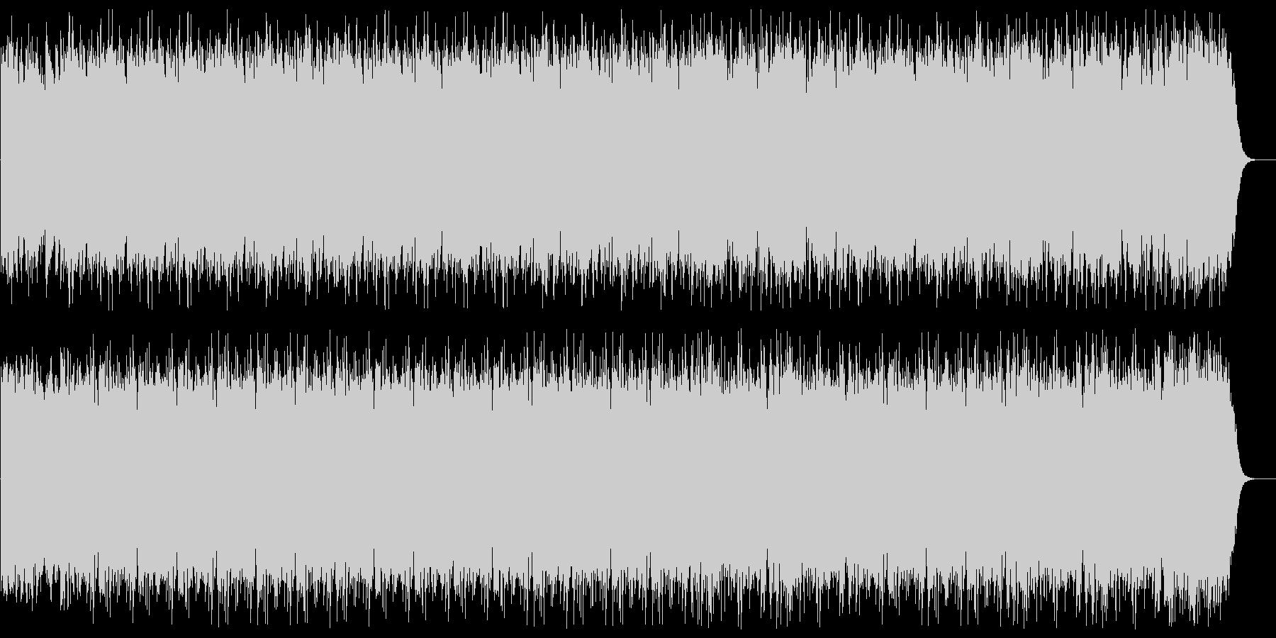 浮遊感あるシンセサイザーの曲の未再生の波形