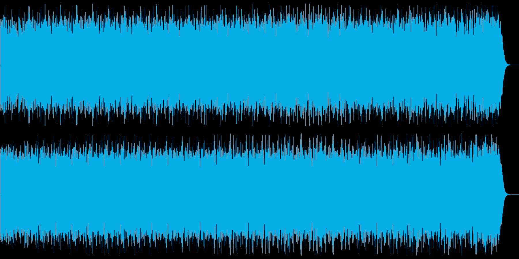 浮遊感あるシンセサイザーの曲の再生済みの波形