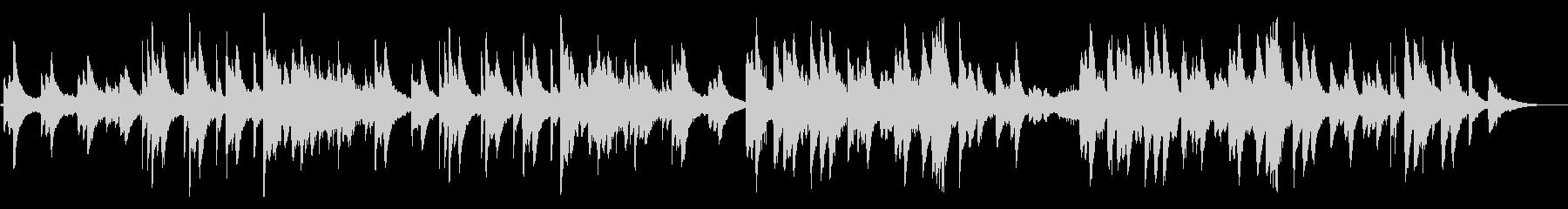 ピアノの儚げな旋律が印象的なアンビエントの未再生の波形