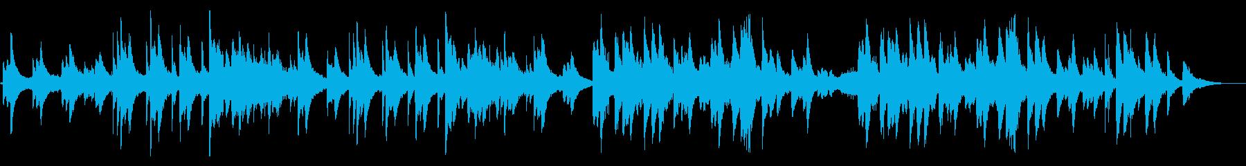 ピアノの儚げな旋律が印象的なアンビエントの再生済みの波形