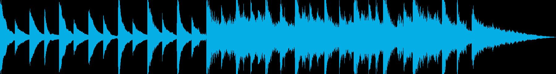 【ピアノ】優しいジングル曲の再生済みの波形