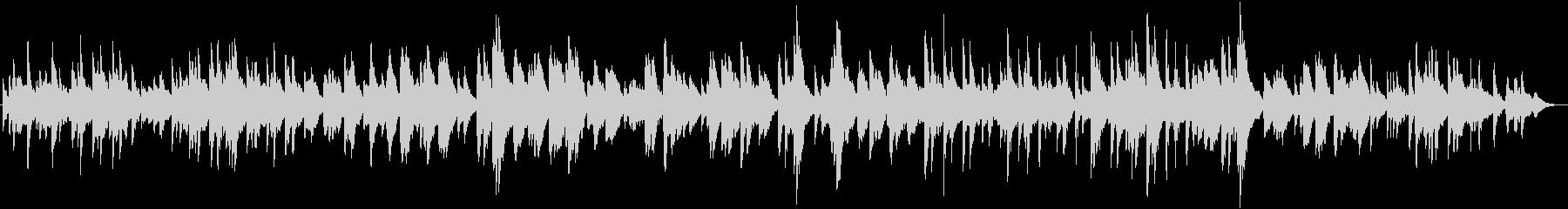 ピアノ アメージンググレイス クリスマスの未再生の波形