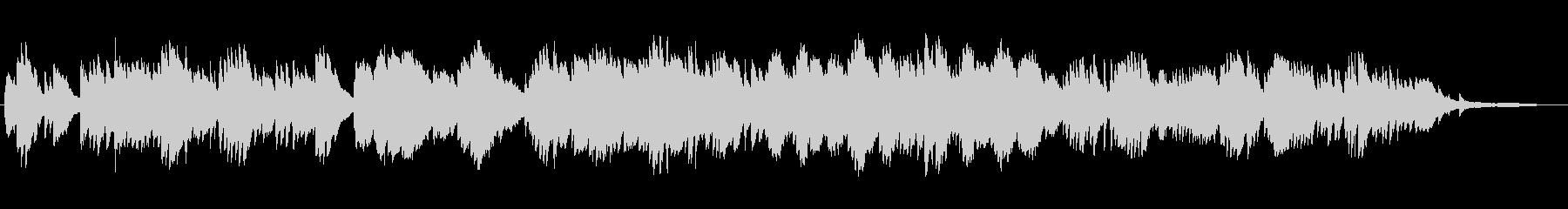 切ないバラード風の ピアノソロの未再生の波形
