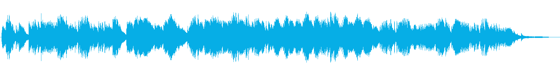 切ない夜をイメージした ピアノ・バラードの再生済みの波形