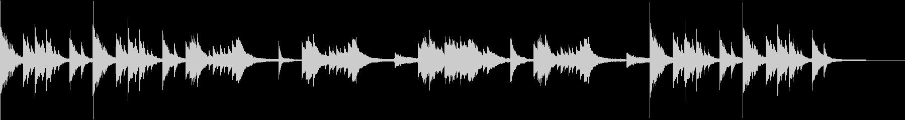 物憂げで幻想的な雰囲気のピアノソロBGMの未再生の波形