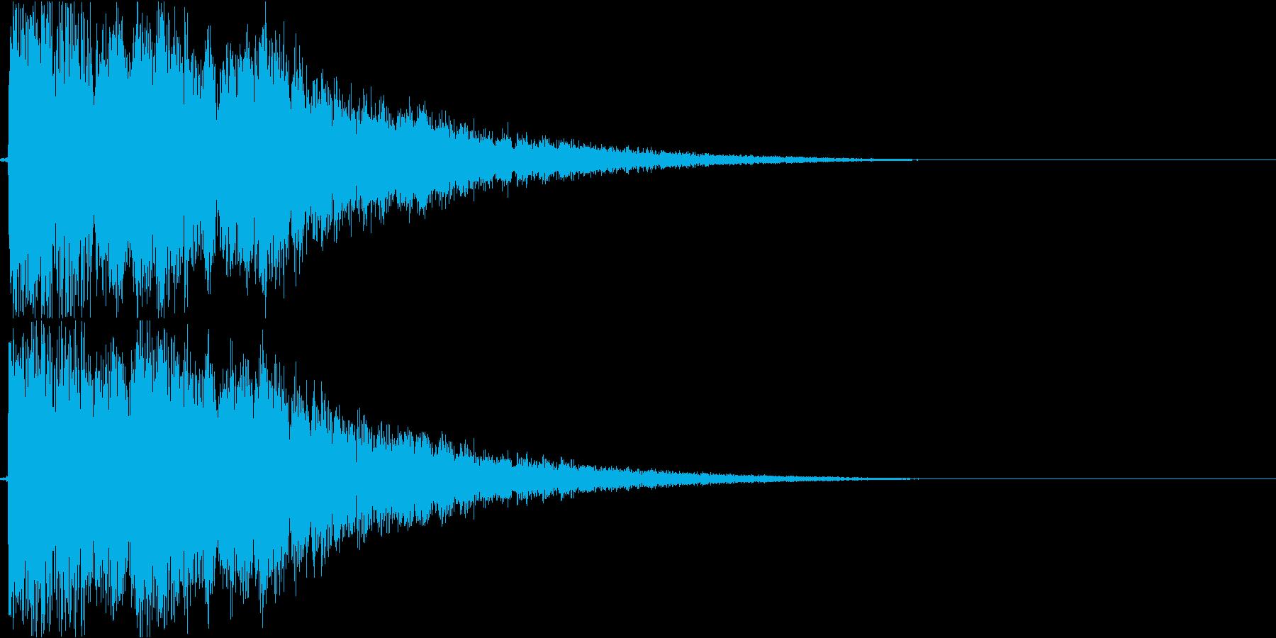 テレビ番組・CM等テロップ(ピピーン!)の再生済みの波形