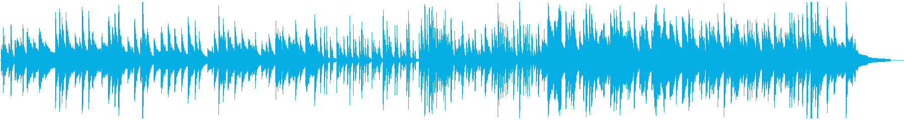 暖かく繊細なソロピアノジャズの再生済みの波形