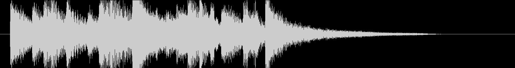 【ジングル】ピアノとギターのメロウな曲の未再生の波形