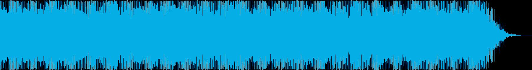 疾走感のあるエレキとシンセのBGMの再生済みの波形