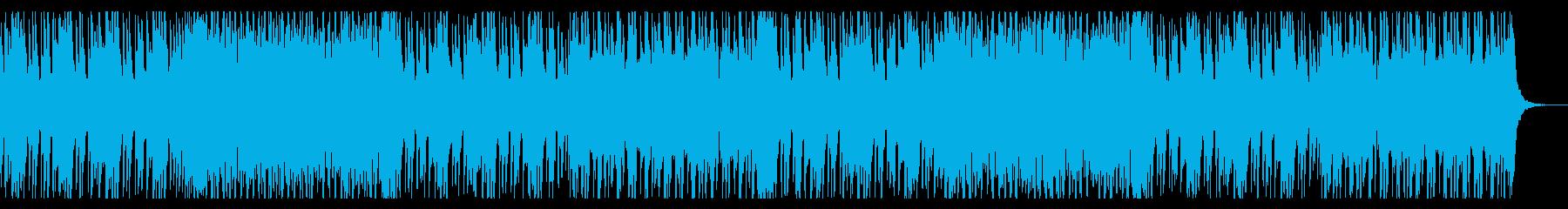 ファンクな80年代風のハロウィン曲の再生済みの波形