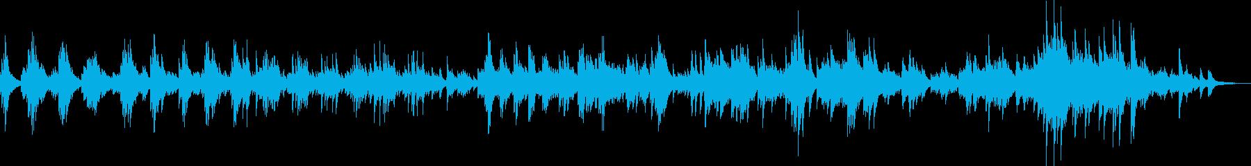 Tragic piano solo song's reproduced waveform