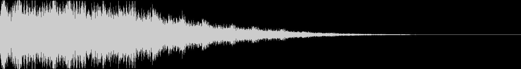 ディズニー・ファンタジー風な衝撃音gの未再生の波形
