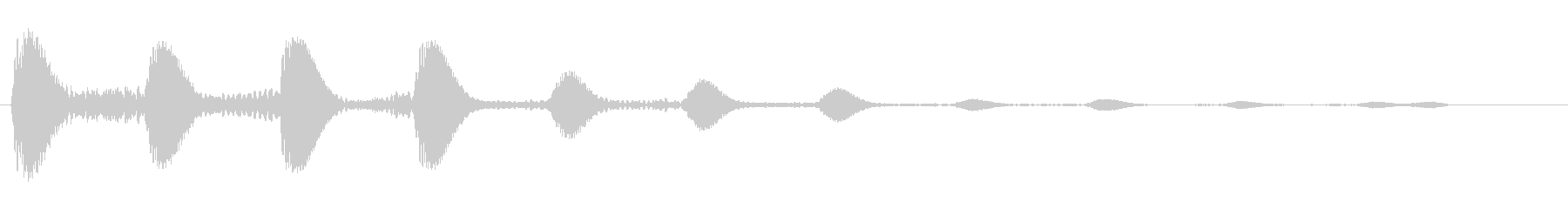 ポポポポ(高音から低く)の未再生の波形