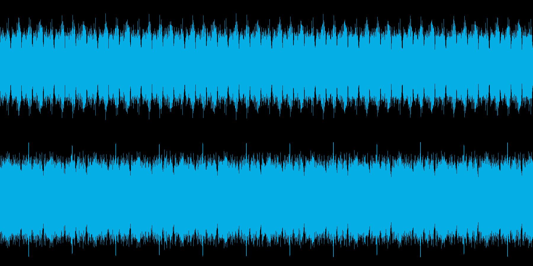 ホラー、不気味なストリングスの再生済みの波形