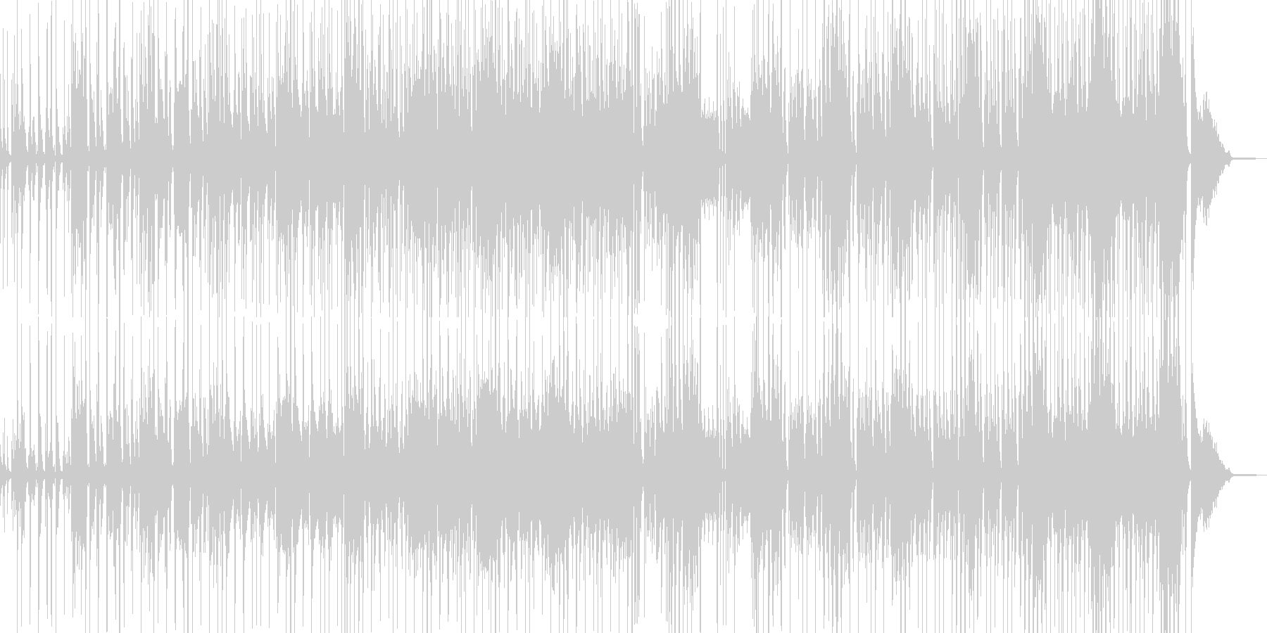 コメディに適したポップス・ベース有の未再生の波形