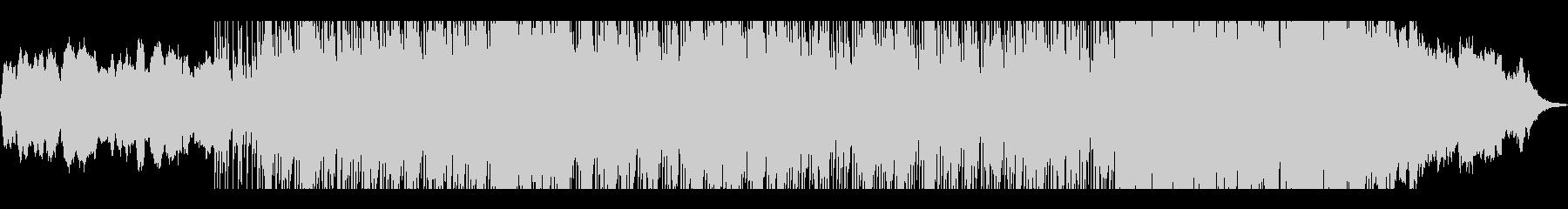 和の雰囲気が漂うバトル系のBGMの未再生の波形