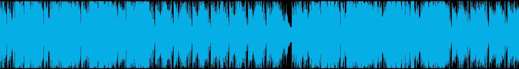コミカルなパズルゲーム風BGMの再生済みの波形