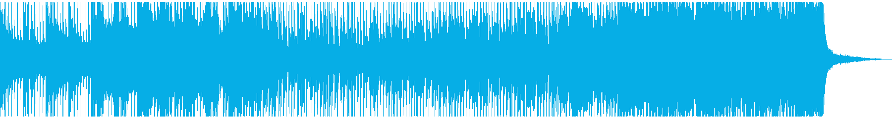 明るく、後半からは疾走感のある曲です。の再生済みの波形