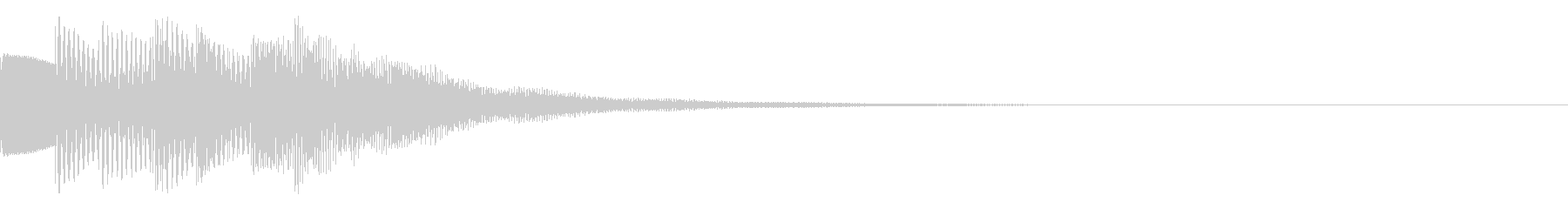 お知らせ音01(ベル系)の未再生の波形