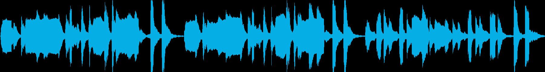 のんびりした雰囲気のループBGMの再生済みの波形