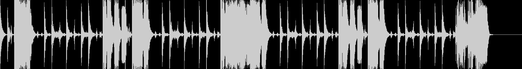 ファンク系のBGM(ちょっと激しめ)の未再生の波形