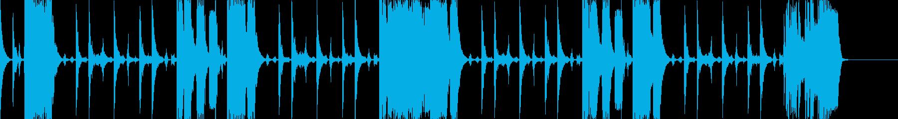ファンク系のBGM(ちょっと激しめ)の再生済みの波形
