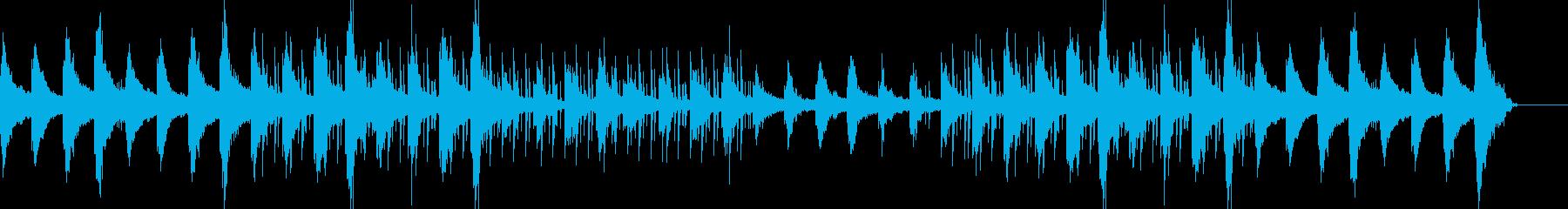 ピアノで静かに癒やされるhiphopの再生済みの波形