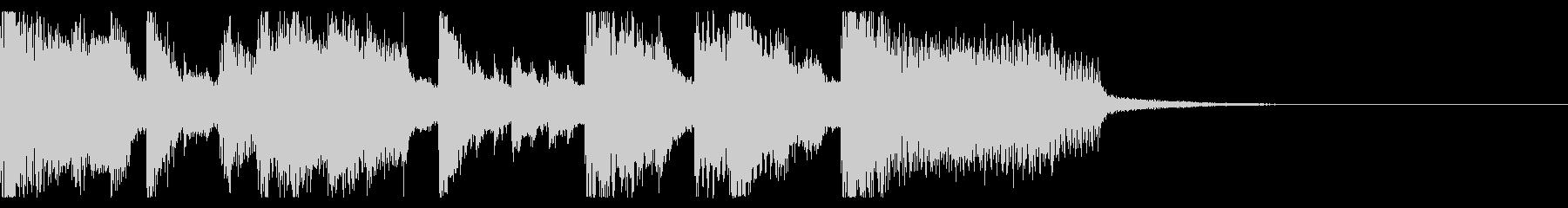 ポップなEDM系ジングルミュージック3の未再生の波形