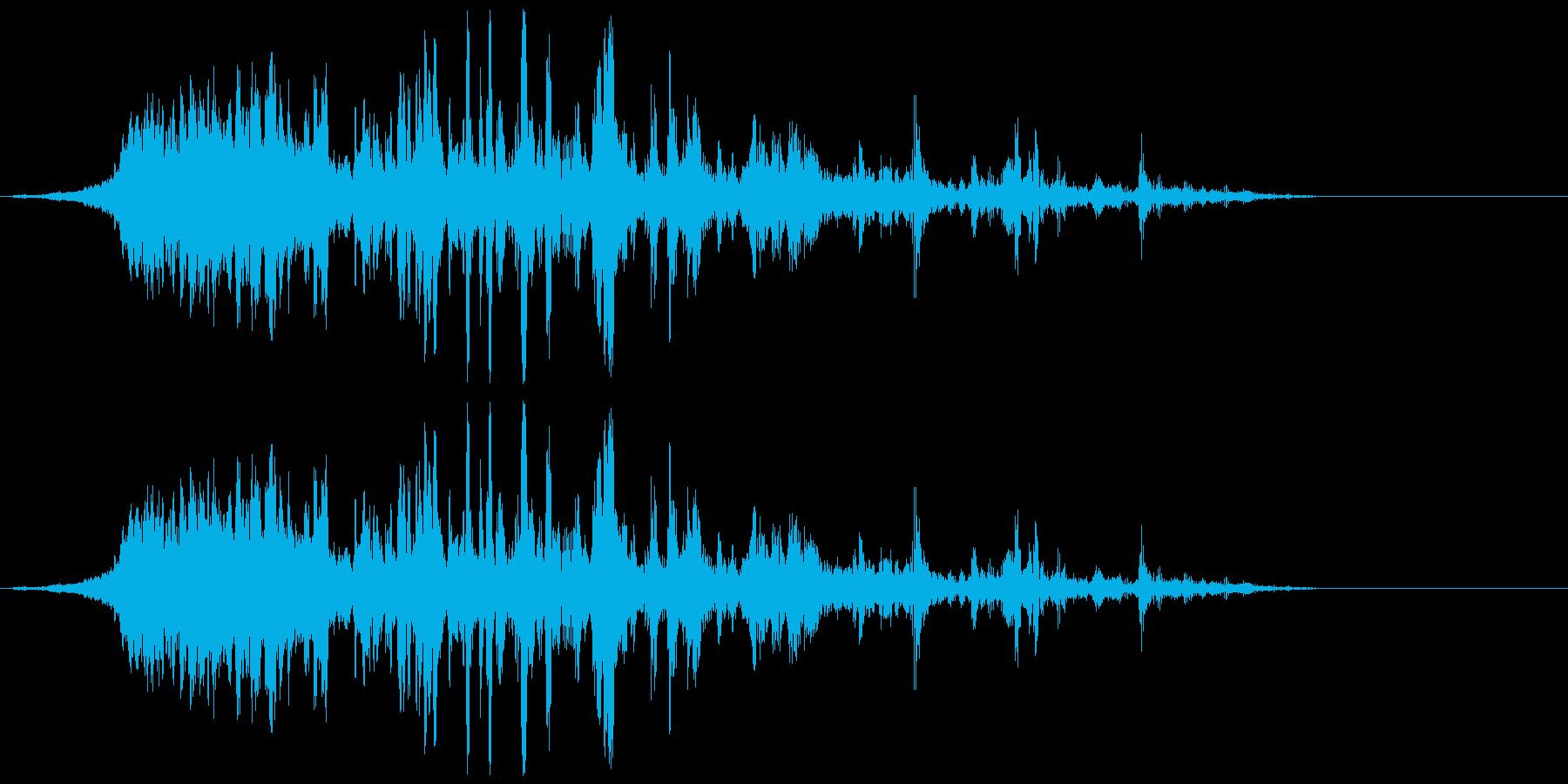 ヒューン〜ドンのヒューンの再生済みの波形
