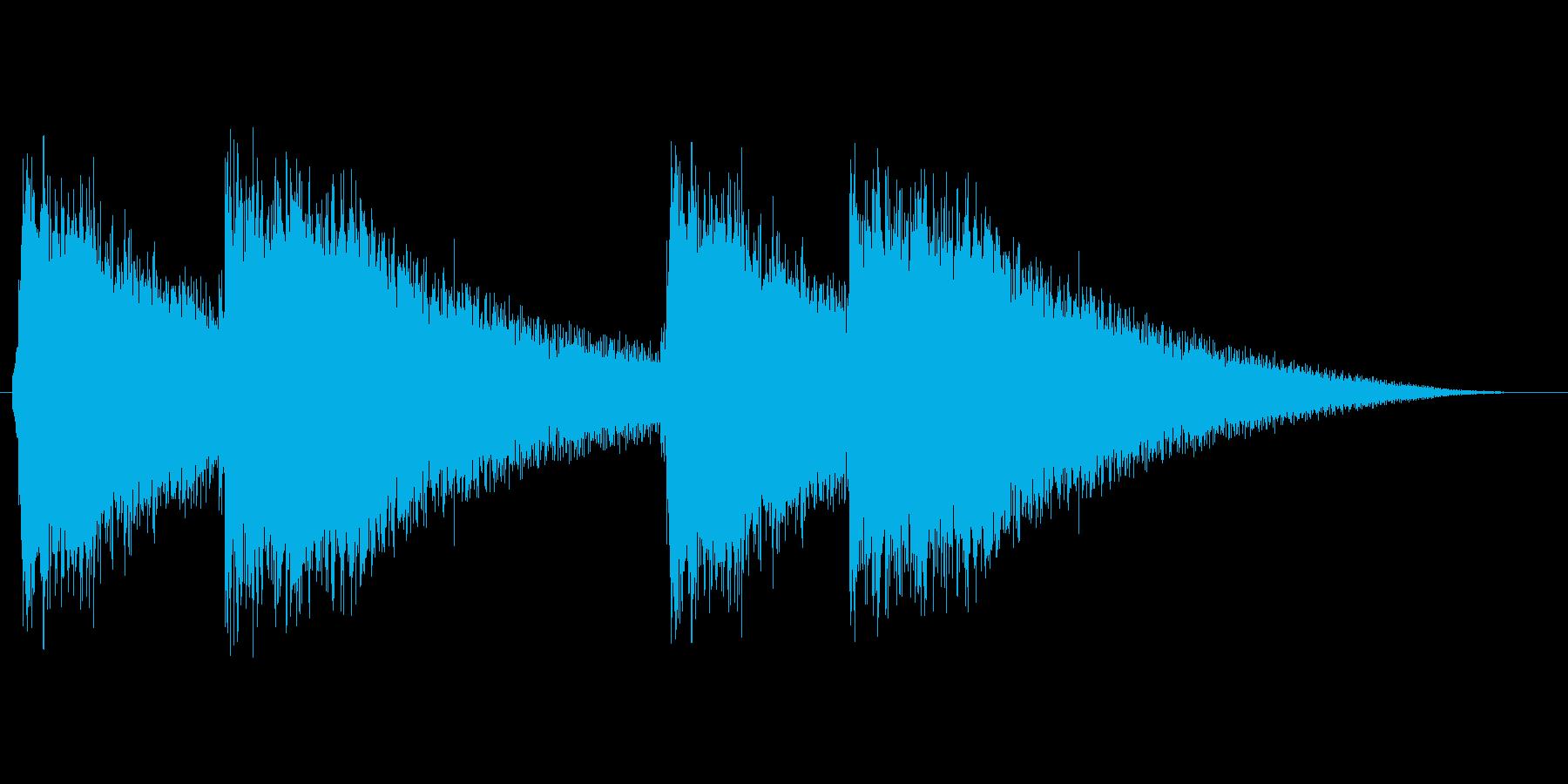 【鐘の音】結婚式・教会感のある音の再生済みの波形