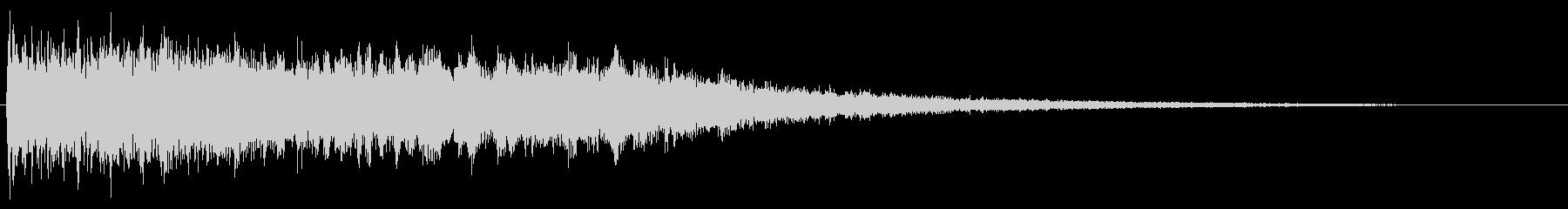 音楽スティンガー;エコー付きハード...の未再生の波形