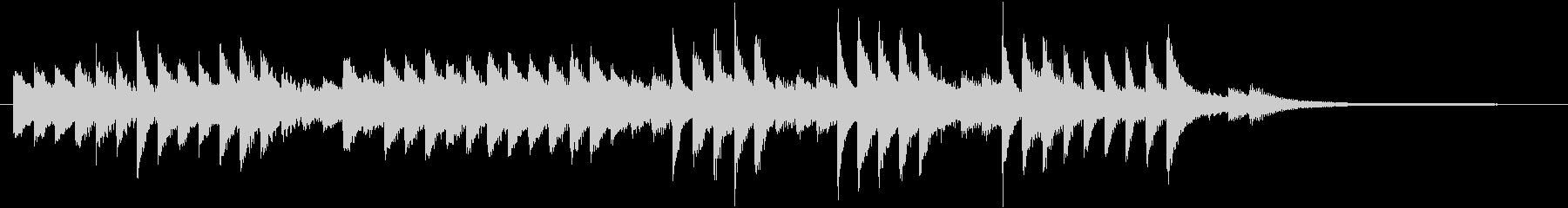 童謡・うれしいひなまつりピアノジングルCの未再生の波形