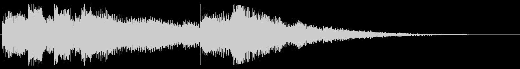 ちょっぴり哀愁の残るピアノのジングルの未再生の波形