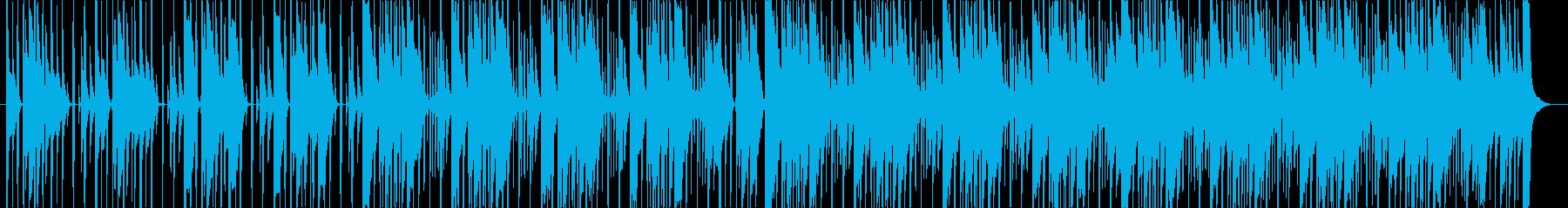 三味線と琴の約1分間の力強い曲の再生済みの波形