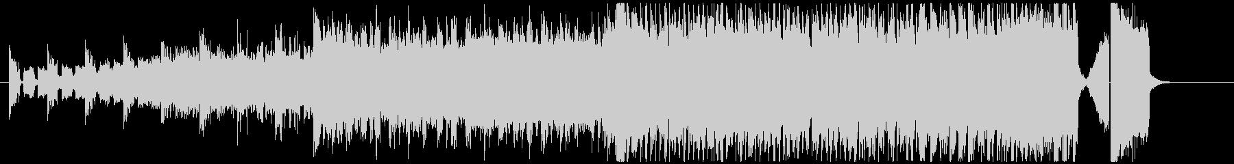 カーチェイス、戦闘シーンのBGMの未再生の波形
