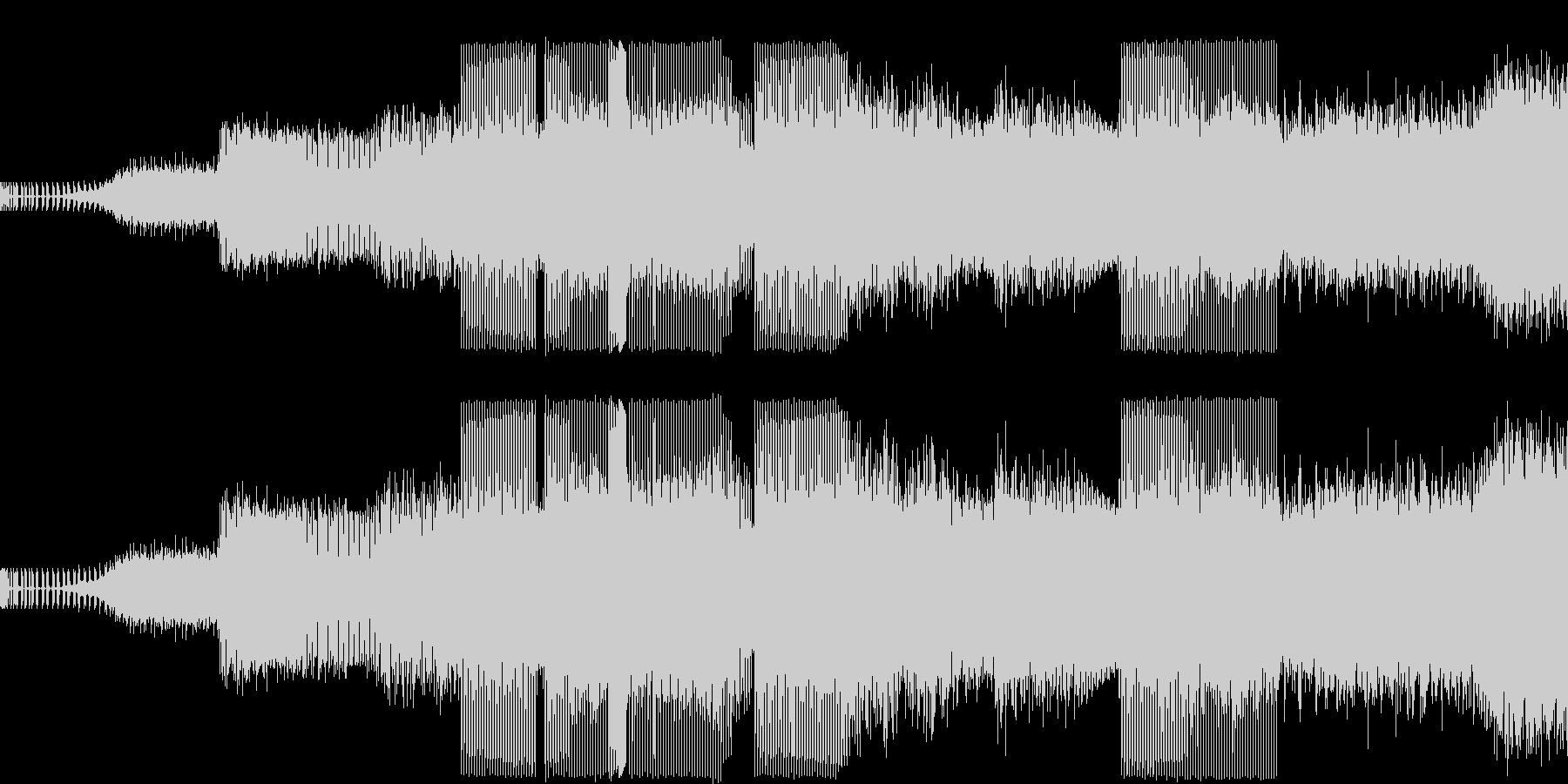 本格ハウスミュージックの未再生の波形