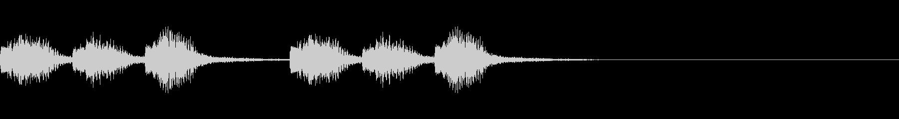緊急警報風サウンドの未再生の波形