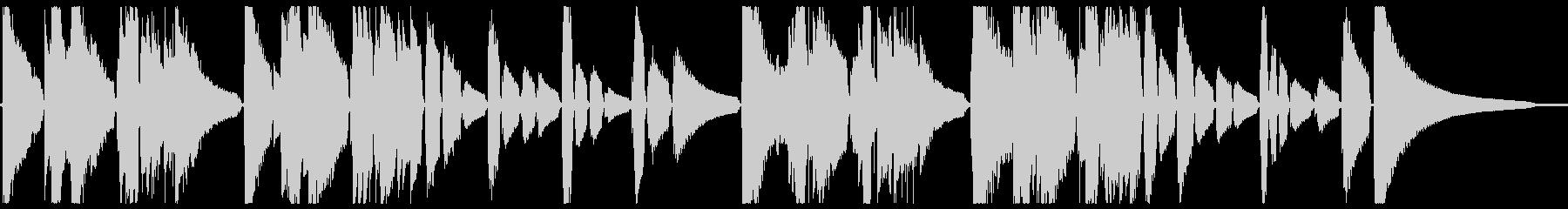 現代音楽風なギター小作品の未再生の波形