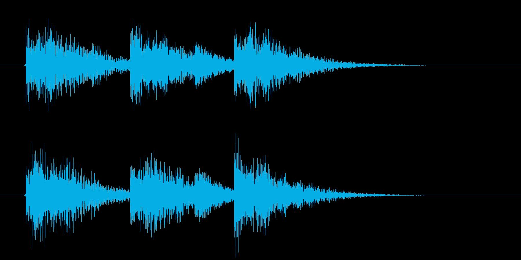 幻想的で軽快なシンセジングルの再生済みの波形