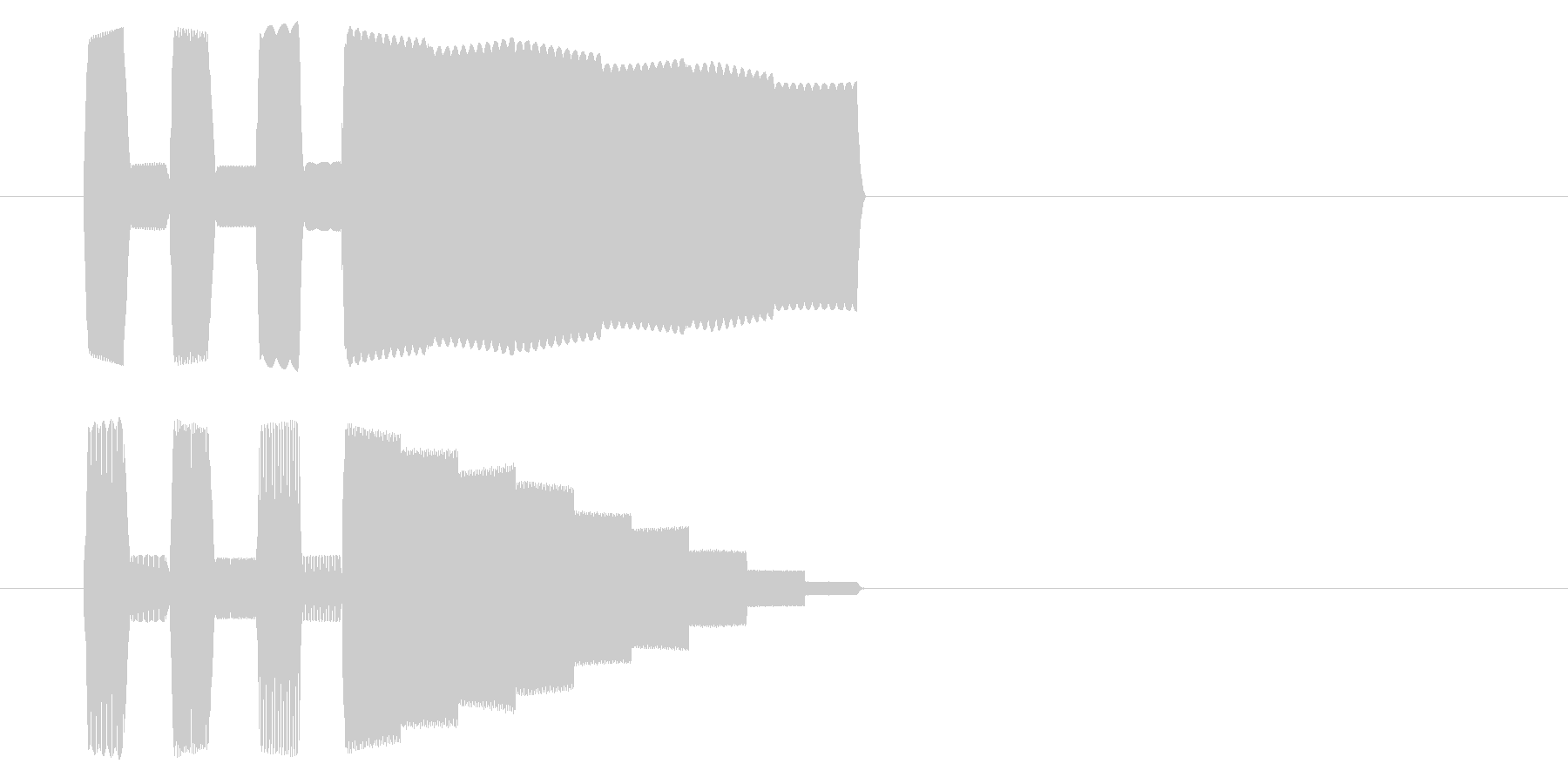 GB風シューティングのジングルの未再生の波形