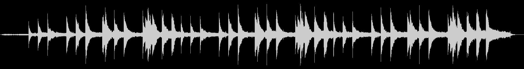 ヒーリング ピアノ バラードの未再生の波形