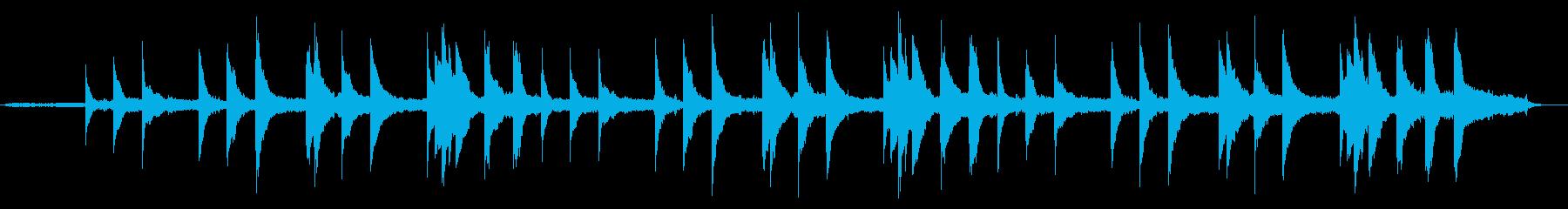 ヒーリング ピアノ バラードの再生済みの波形