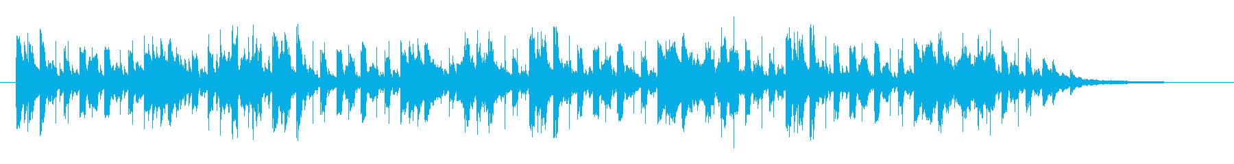 水中や北欧、サイエンスなど透明感ある曲の再生済みの波形
