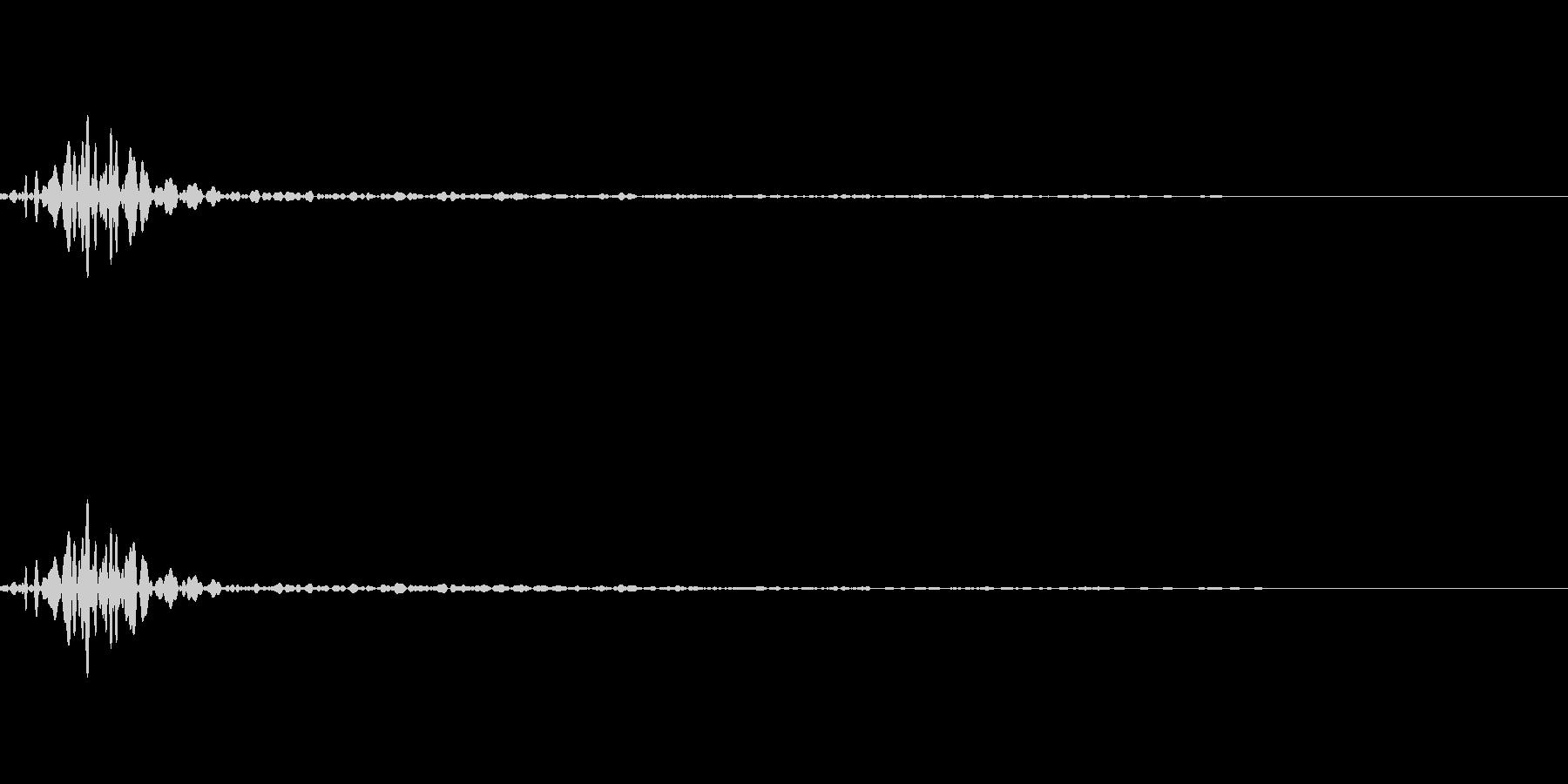 アイコン出現音(ポッ/ポコッ)の未再生の波形