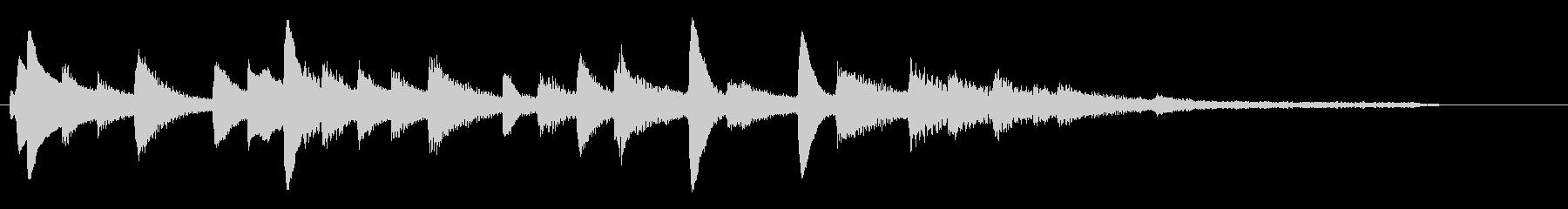 フレッシュな雰囲気のピアノソロジングル4の未再生の波形