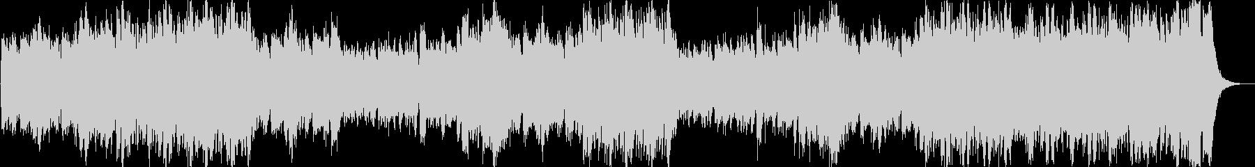 ファンファーレが繰り返される豪華なマーチの未再生の波形