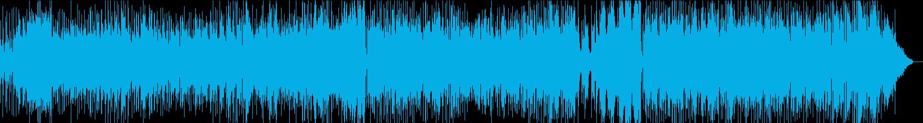 オシャレなカフェ風BGMの再生済みの波形